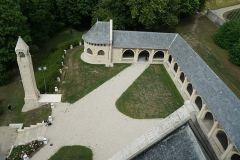 Château de Sept-Saulx - vue du mémorial des batailes de la Marne.