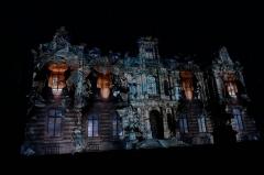 Château Perrier -  illumination du Château_Perrier_thème: décollage.
