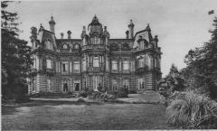 Château Perrier -  carte postale du château et du parc.