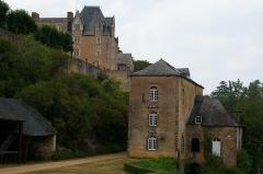 Moulin de Thévalles (également sur commune de Saulges) -  Château et moulin de Thévalles à Chémeré-le-Roi (Mayenne)