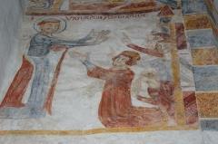 Eglise paroissiale Saint-Vigor -  Fresques 1 Saint-Vigor de Neau  (Mayenne)