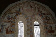Eglise paroissiale Saint-Vigor -  Fresques de l'église St Vigor de Neau