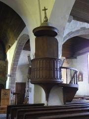 Eglise Saint-Martin - Français:   Église Saint-Martin de Châtillon-sur-Colmont (53). Chaire.