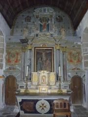 Eglise Saint-Martin - Français:   Église Saint-Martin de Châtillon-sur-Colmont (53). Maître-autel et son retable.
