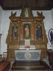 Eglise Saint-Martin - Français:   Église Saint-Martin de Châtillon-sur-Colmont (53). Autel et retable de Saint-Martin. 2de chapelle septentrionale.