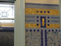 Bâtiment des bains-douches - Français:   Mosaïque Odorico