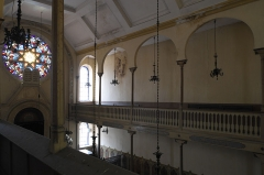 Synagogue - Deutsch:   Synagoge in Toul im Département Meurthe-et-Moselle (Lothringen/Frankreich), Innenraum, Empore