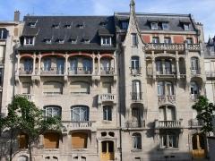 Maison - Immeubles jumeaux Lombard & France-Lanord, 69 & 71 avenue Foch, Nancy, Lorraine, France Construits entre 1902 & 1904 par Émile André