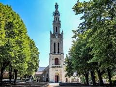 Eglise paroissiale de la Nativité de la Vierge dite Basilique Notre-Dame-de-Sion et ancien couvent des Tiercelins de Sion - Français:   Clocher de la basilique de Sion. Meurthe-et-Moselle