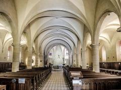 Eglise paroissiale de la Nativité de la Vierge dite Basilique Notre-Dame-de-Sion et ancien couvent des Tiercelins de Sion - Français:   Nef de la basilique Notre-Dame de Sion. Meurthe-et-Moselle