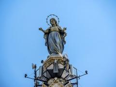Eglise paroissiale de la Nativité de la Vierge dite Basilique Notre-Dame-de-Sion et ancien couvent des Tiercelins de Sion - Français:   Statue de Notre-Dame, au sommet du clocher de la basilique de Sion. Meurthe-et-Moselle