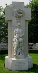 Cimetière américain -  Statue at American Cemetery near St Mihiel France