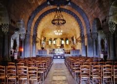 Ossuaire de Douaumont - Deutsch: Kapelle des Ossuariums, Douaumont, Département Meuse, Region Lothringen (heute Grand Est), Frankreich