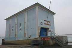 Station de sauvetage en mer de la commune d'Etel, sise dans l'extrémité sud du quai sur la rivière d'Etel - Français:   Station de sauvetage en mer d\'Étel