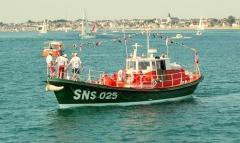 Station de sauvetage en mer de la commune d'Etel, sise dans l'extrémité sud du quai sur la rivière d'Etel - Français:   Canot de sauvetage Patron Emile Daniel: SNSM Etel