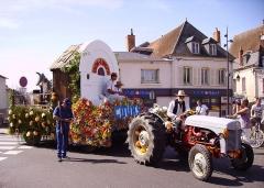 Cinéma Eden - Français:   Char (confectionné en produits recyclés) réalisé par l\'ancienne commune de Cours sur le film Peau d\'âne de Jacques Demy inspiré du conte de Charles Perrault.  Lors du défilé du comice agricole du canton de Cosne-Cours-sur-Loire le 30 août 2015.