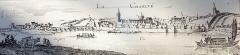 Grand pont sur la Loire - Français:   La Charité-sur-Loire au XVIIe siècle (gravure de Merlan)