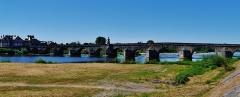 Grand pont sur la Loire - Deutsch: Große Brücke, La Charité-sur-Loire, Département Nièvre, Region Burgund (heute Burgund-Franche-Comté), Frankreich