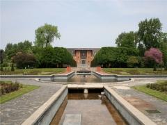 Lycée Baggio, anciennement dénommé Institut Diderot -  Lycée César-Baggio vu du jardin des plantes de Lille (Nord).