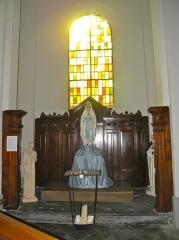 Eglise Notre-Dame du Tilleul ou église de Sous-le-Bois - Français:   Église Notre-Dame-du-Tilleul de Maubeuge autel à l\'entrée à droite