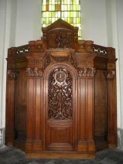 Eglise Notre-Dame du Tilleul ou église de Sous-le-Bois - Français:   Église Notre-Dame-du-Tilleul de Maubeuge confessionnal