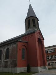 Eglise Notre-Dame du Tilleul ou église de Sous-le-Bois - Français:   extérieur de l\'Église Notre-Dame-du-Tilleul de Maubeuge