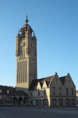 Beffroi - Deutsch: Belfried, Beffroi de Bergues, in Bergues im Département Nord (Hauts-de-France/Frankreich)