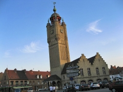 Beffroi - English: The beffroi of Bergues, Nord-Pas-de-Calais, France