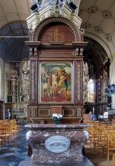 Eglise Saint-Martin - Français:   Retable latéral gauche de l\'église Saint-Martin d\'Arnèke.