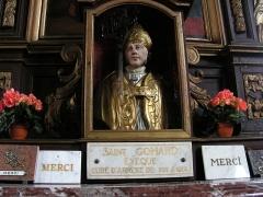 Eglise Saint-Martin -  Église Saint-Martin d'Arnèke, buste-reliquaire de St Ghoaert.