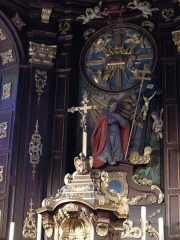 Eglise Saint-Martin -  Arnèke (Nord, France), église St Martin, tabernacle et retable du maître-autel.