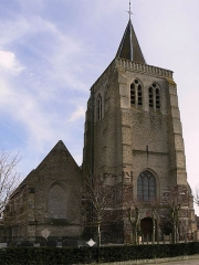 Eglise Saint-Omer -  church of Bambeke front vieuw