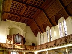 Temple protestant - Français:   Les boiseries de l\'intérieur du temple de l\'église réformée de France de Lille.