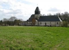 Eglise Saint-Nicolas -  Bonneuil-les-Eaux (Oise, France) -  L'église, vue du côté opposé à la motte féodale.  .  .   .