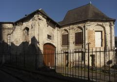 Eglise de la Madeleine - English: Noyon; Ancienne église Sainte-Marie Madeleine; Nord-Pas-de-Calais-Picardie, Oise; France; ref: PM_102956_F_Noyon; Cultural heritage; Europe/France/Noyon; Wiki Commons; photo: Paul M.R.Maeyaert; www.pmrmaeyaert.eu; © Paul M.R. Maeyaert; pmrmaeyaert@gmail.com