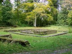 Temple gallo-romain de la forêt d'Halatte - Français:   Vue du site en arrivant sur le chemin depuis le sud-est.