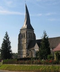 Eglise Saint-Omer -  Kerk Verchin met gedraaide toren