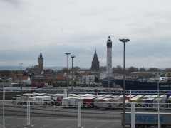 Phare de Calais - English: View of Calais from the port