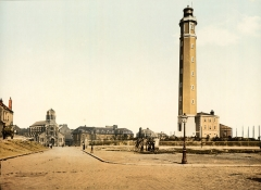 Phare de Calais -  Photochrom print by Photoglob Zürich, between 1890 and 1900. From the Photochrom Prints Collection at the Library of Congress More photochroms from France | More photochrom prints  [PD] This picture is in the public domain