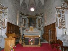 Château de Lord Davis - Le chœur de l'église Notre-Dame, Tauves, Puy-de-Dôme, France.