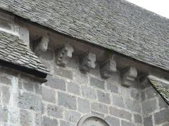 Château de Lord Davis - Modillons de l'église Notre-Dame, Tauves, Puy-de-Dôme, France.