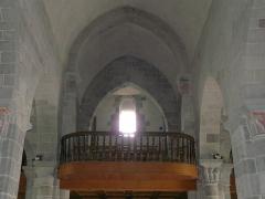 Château de Lord Davis - La tribune de l'église Notre-Dame, Tauves, Puy-de-Dôme, France.