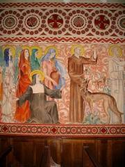 Chapelle du Sacré-Coeur, actuellement chapelle du lycée Saint-Joseph -  Fresques de Notre Dame du Sacré Coeur-1934- Hasparren - Pyrénées Atlantiques Auteur/author: P.Charpiat - 2006