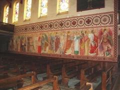 Chapelle du Sacré-Coeur, actuellement chapelle du lycée Saint-Joseph - English: Hasparren (Pyr-Atl, Fr) Chapelle du Sacré-Coeur, frescoes.