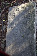 Cimetière juif de Bayonne - English:  Tombstone dated from 1789, 3540 in the jewish calender.