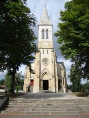 Eglise Saint-Vincent - English: Ustaritz (Pyr-Atl., Fr) church Saint-Vincent-diacre facade and tower.