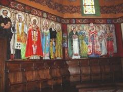Eglise Saint-Vincent - English: Ustaritz (Pyr-Atl., Fr) église Saint-Vincent-diacre, wall freso 1.jpg