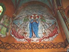 Eglise Saint-Vincent - English: Ustaritz (Pyr-Atl., Fr) église Saint-Vincent-diacre, wall painting in the choir.