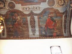 Eglise Saint-Sébastien - English: Jatxou (Pyr-Atl., Fr) Church St.Sébastien Wall painting St.Mathieu, St.Jean.jpg