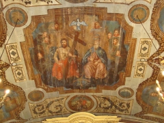 Eglise Saint-Sébastien - English: Jatxou_(Pyr-Atl._Fr) Saint-Sébastian church, painting in the choir